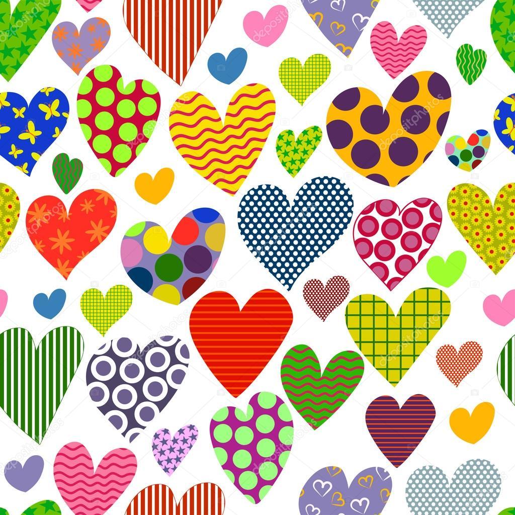 corazones de colores fondo - photo #44