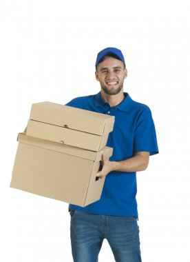 guy holding a package for delivery