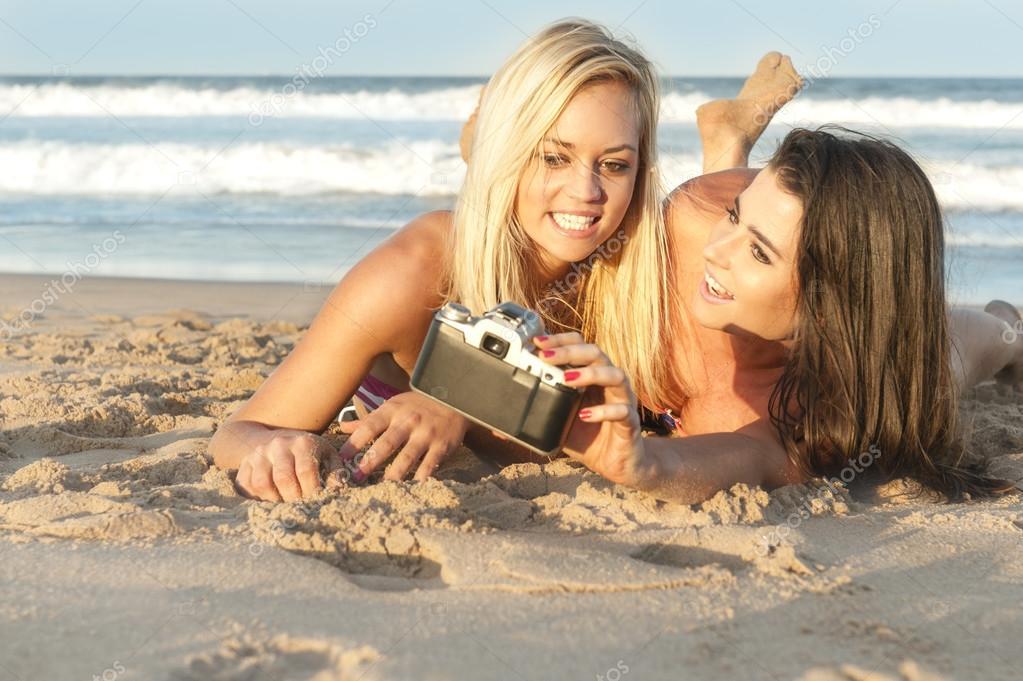 Lesbian beach girls