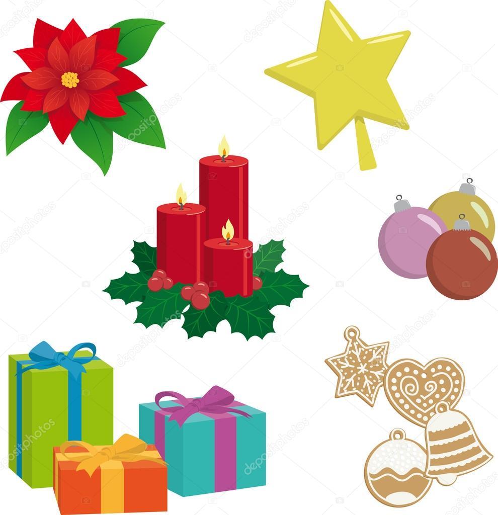 Vector objetos navidad cosas y objetos de navidad vector de stock 92659970 - Objetos de navidad ...
