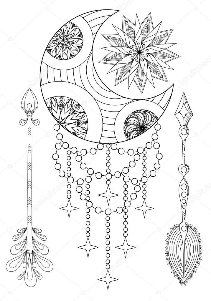 Dibujos: flechas para imprimir | Luna Bohemia y el sol con flechas ...