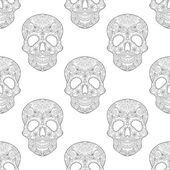 Fotografia Zentangle stylized  Skull for Halloween, seamless pattern with a