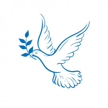 blue dove of peace