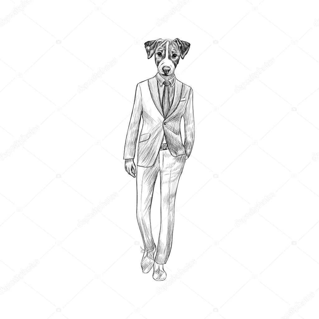 Sketch of Jack Terrier