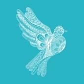 Fotografia Zentangle piccione per la giornata della pace