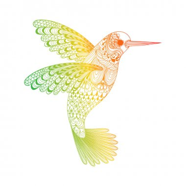 Zentangle stylized  Hummingbird