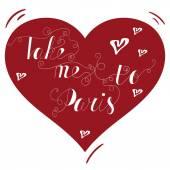 handgezeichnetes Typografie-Plakat. schönes Zitat auf Französisch bringt mich zu