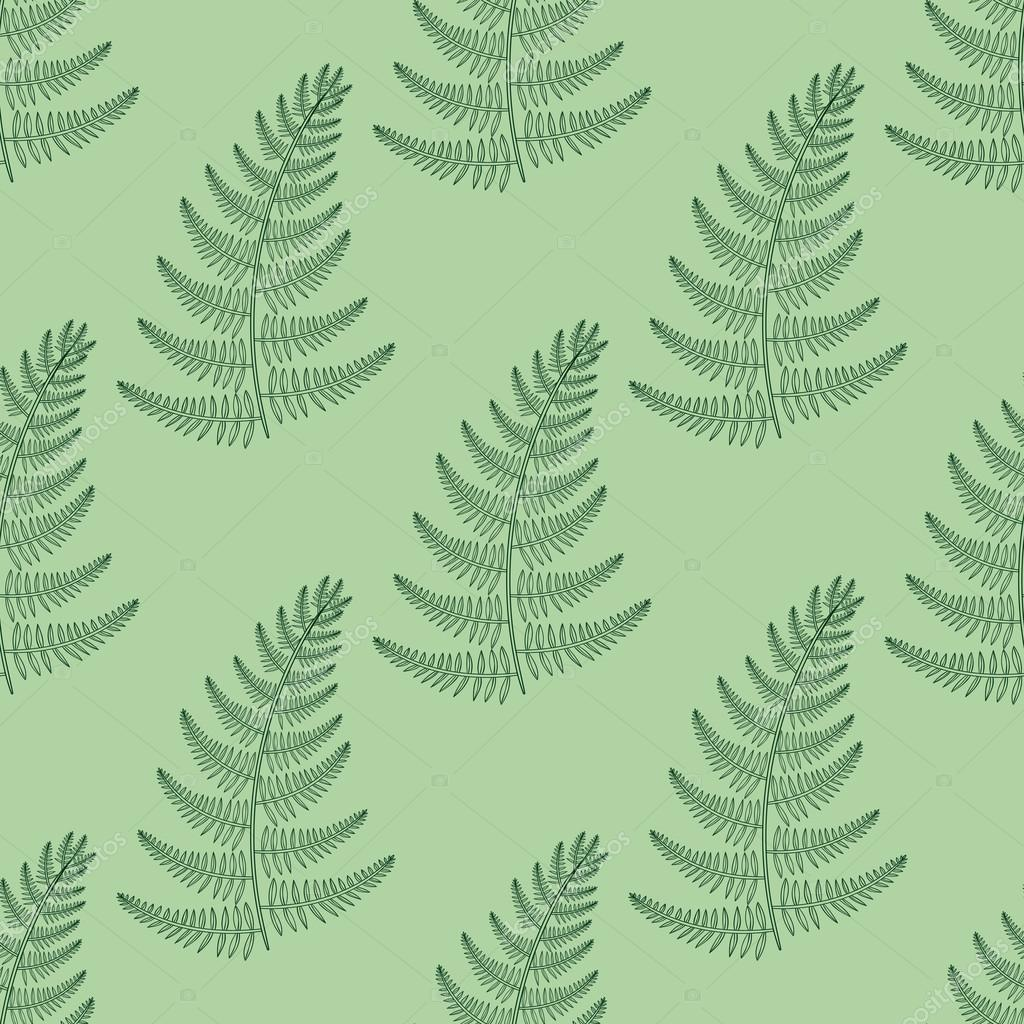 Zentangle vector Fern seamless pattern. Ornamental tribal Grass