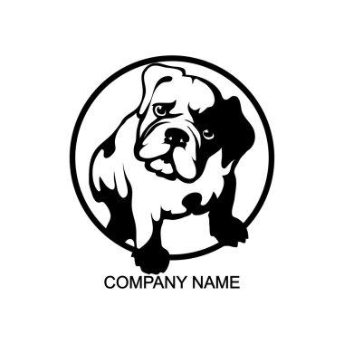black and white bulldog logo