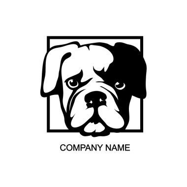 bulldog head logo