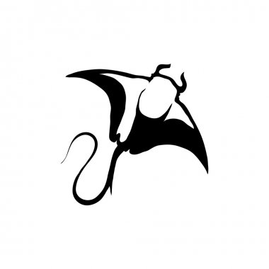 black and white stingray logo