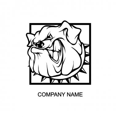 bulldog logo in square
