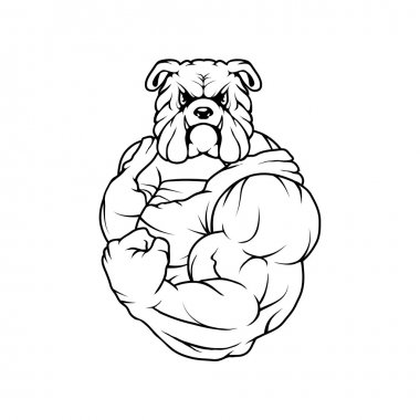 black and white bulldog logo
