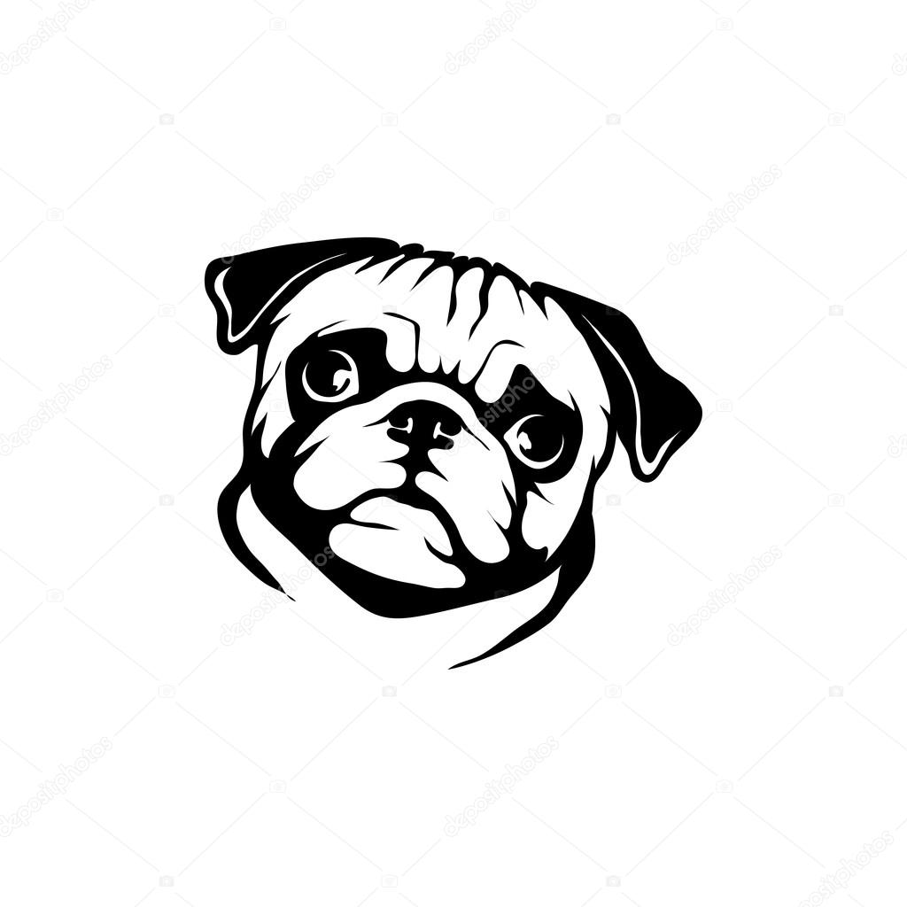 Mopsz kutya logó — Stock Vektor © korniakovstock@gmail.com ...