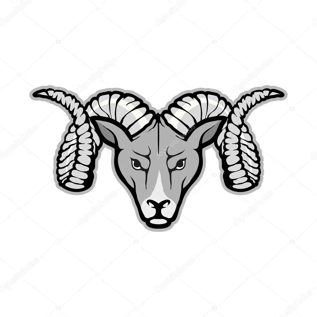 Ram Head Logo Stock Vector