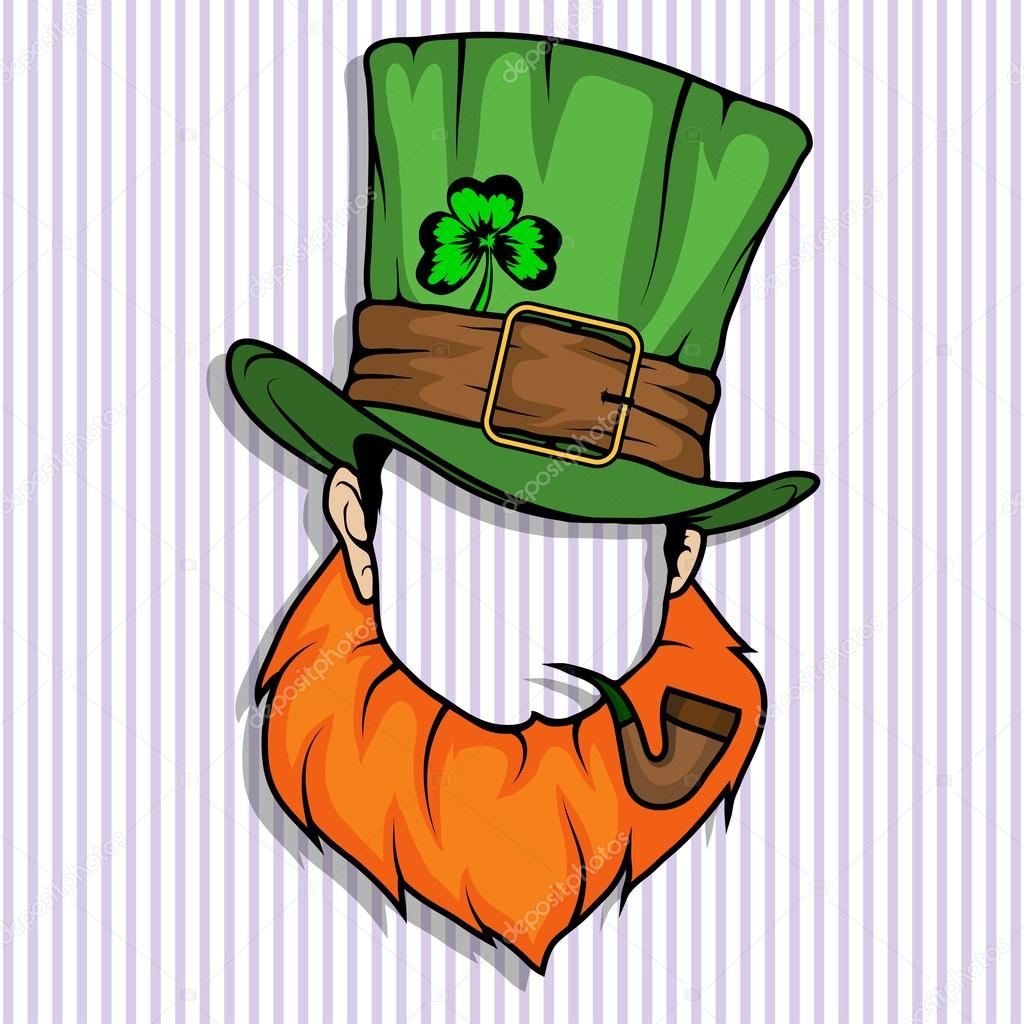 Leprechaun Hat and beard — Stock Vector © korniakovstock gmail.com ... d9f6e840695