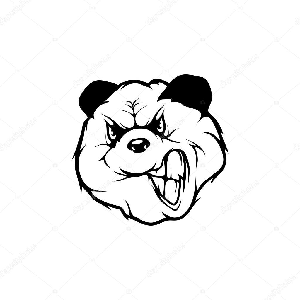 パンダのロゴのテンプレート ストックベクター korniakovstock gmail