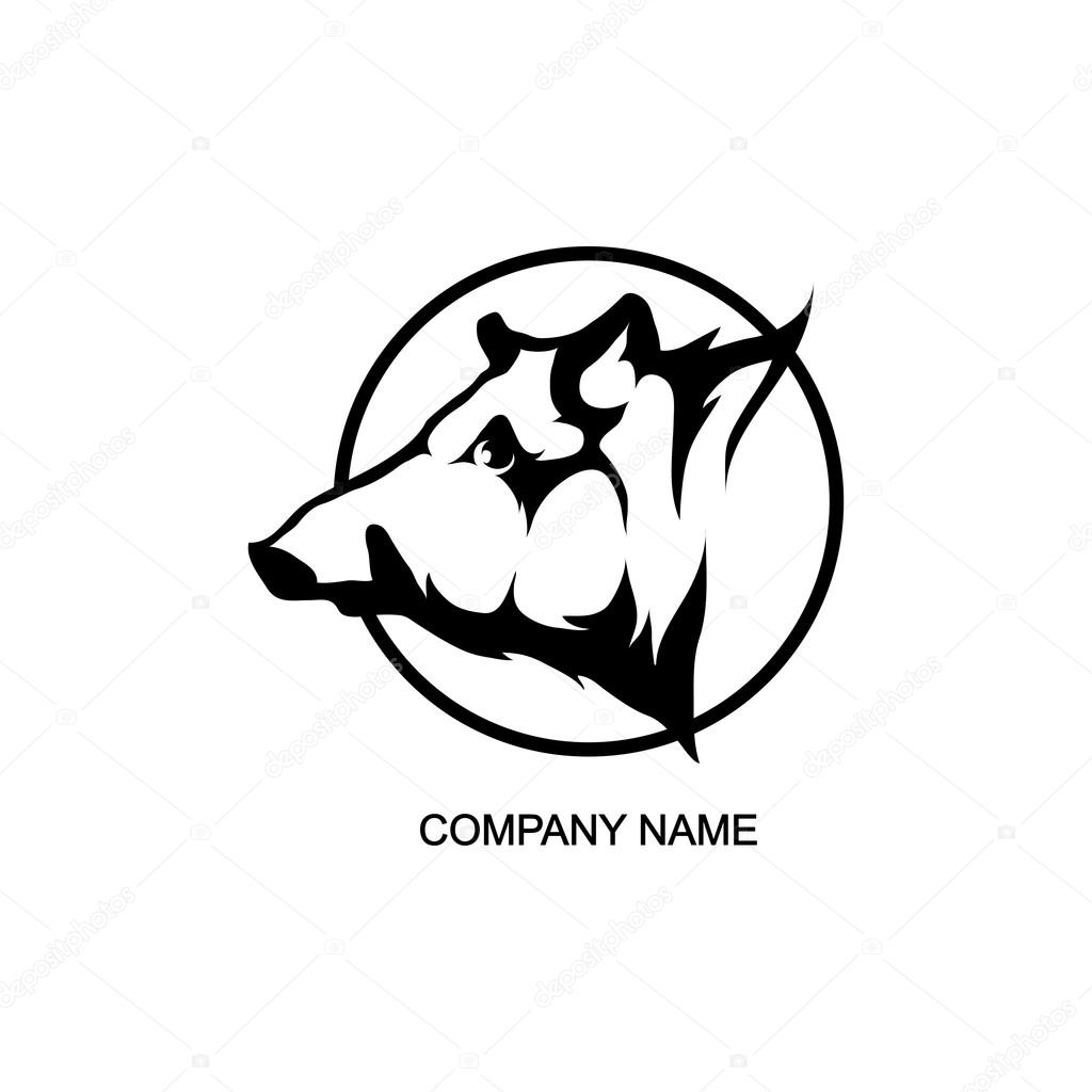 boar logo in circle stock vector korniakovstock gmail com 101587506 rh depositphotos com boa login bear logo