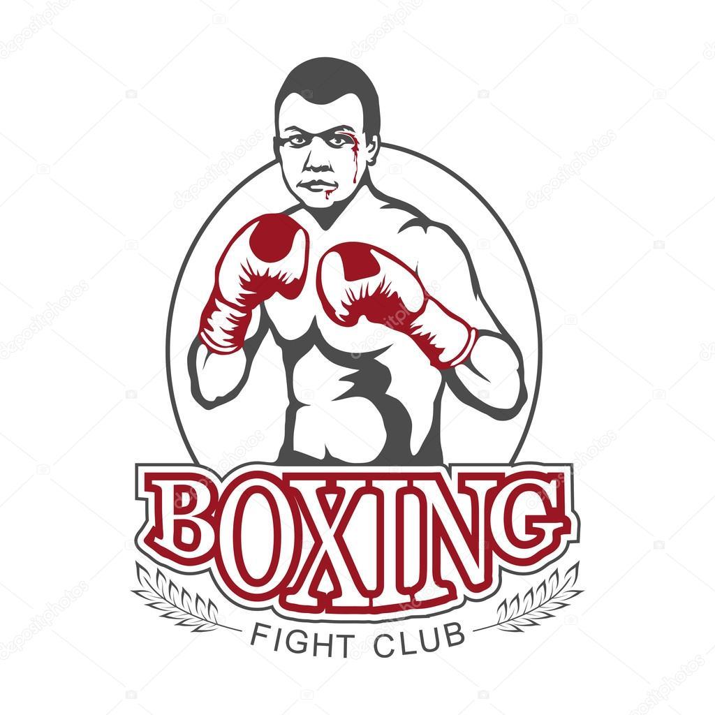 boksen strijd club logo � stockvector 169 korniakovstock