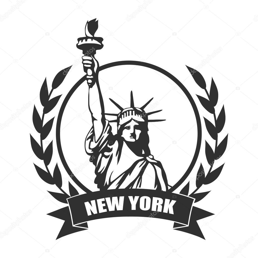 new york city statue of liberty stock vector korniakovstock Minnesota Vikings Logo Emblem new york city statue of liberty stock vector