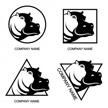 Set of Hippo logos