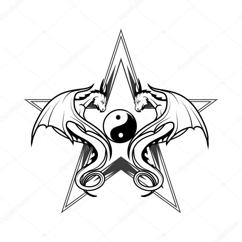 schwarze drachen logo � stockvektor 169 korniakovstockgmail