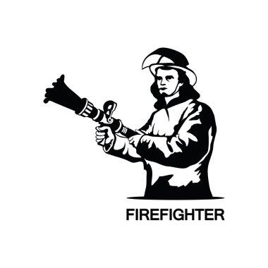 firefighter logo illustration