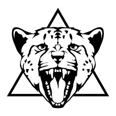 Leopard logo illustration