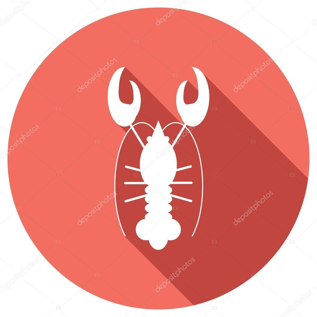 Flat Icon Of Lobster Stock Vector Korniakovstockgmail 69121947