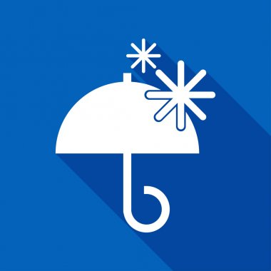 Flat Icon of umbrella