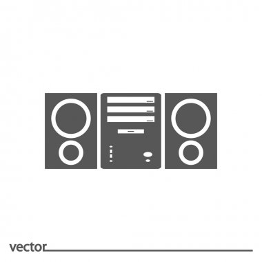 Flat Icon of audio system