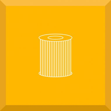 Flat Icon of oil filter