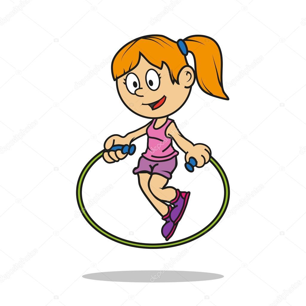 petite girl jump rope