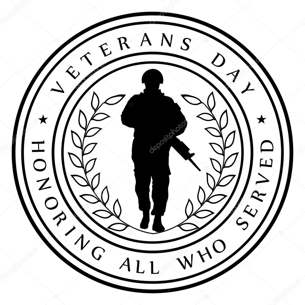 Charming Veterans Day Card U2014 Stock Vector
