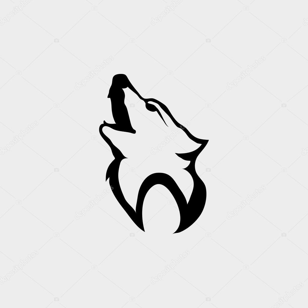 official photos 062e8 07bdb Logo con testa di lupo — Vettoriali Stock © korniakovstock ...