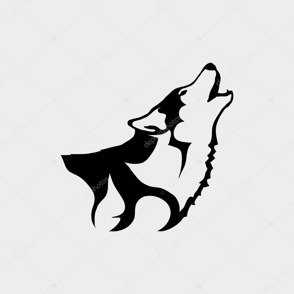 best loved 62839 6cade Foto: loghi lupo | Logo con testa di lupo — Vettoriali Stock ...