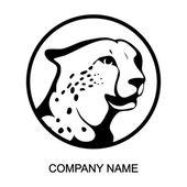 Logo di ghepardo con posto per nome azienda