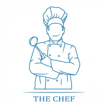 Chef icon with place for text