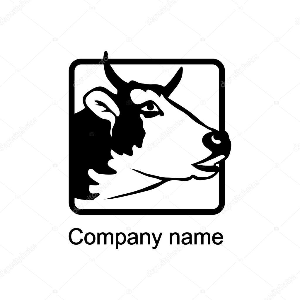logo vache avec place pour le nom de l u0026 39 entreprise  u2014 image vectorielle korniakovstock gmail com