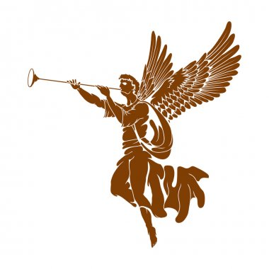 Angel with wings and trumpet