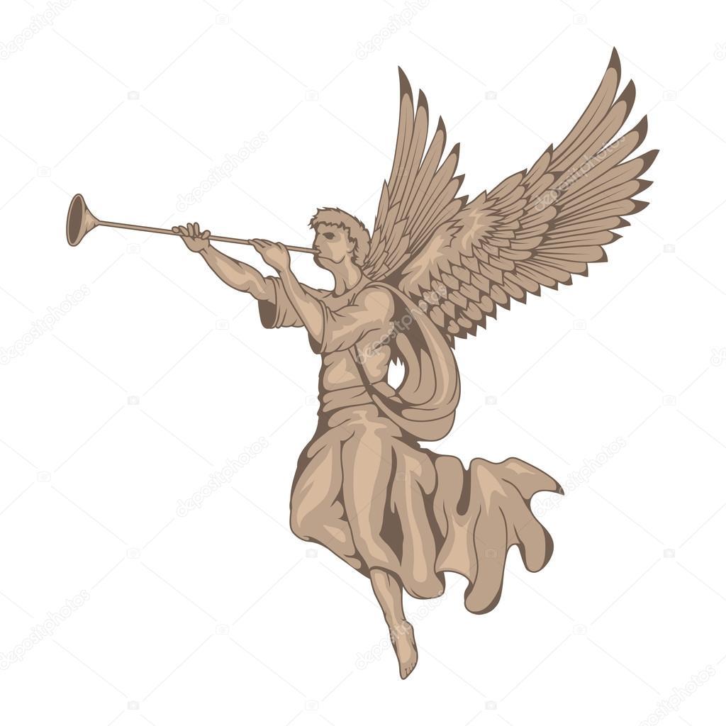 картинки трубящий ангел его