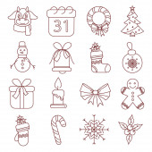 Photo vector with christmas illustration on white background