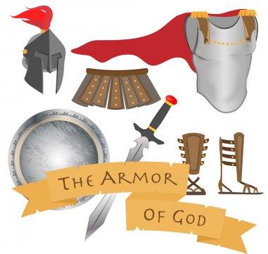The Armor of God Warrior Jesus Christ Holy Spirit Vector Illustration stock vector