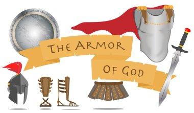 Armor God Christianity Warrior Jesus Christ Spirit Sign Vector Illustration stock vector