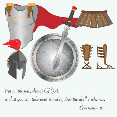 The Armor of God Christianity Jesus Battle Vector Illustration stock vector