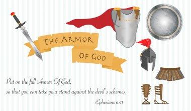 The Armor of God Christianity Jesus Christ Bible Vector Illustration stock vector