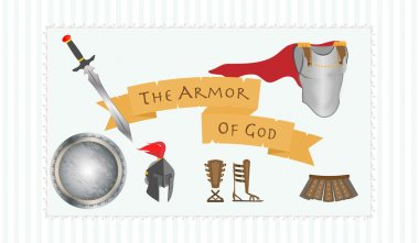 Armor of God Christianity Message Protestant Warrior Vector Illustration stock vector
