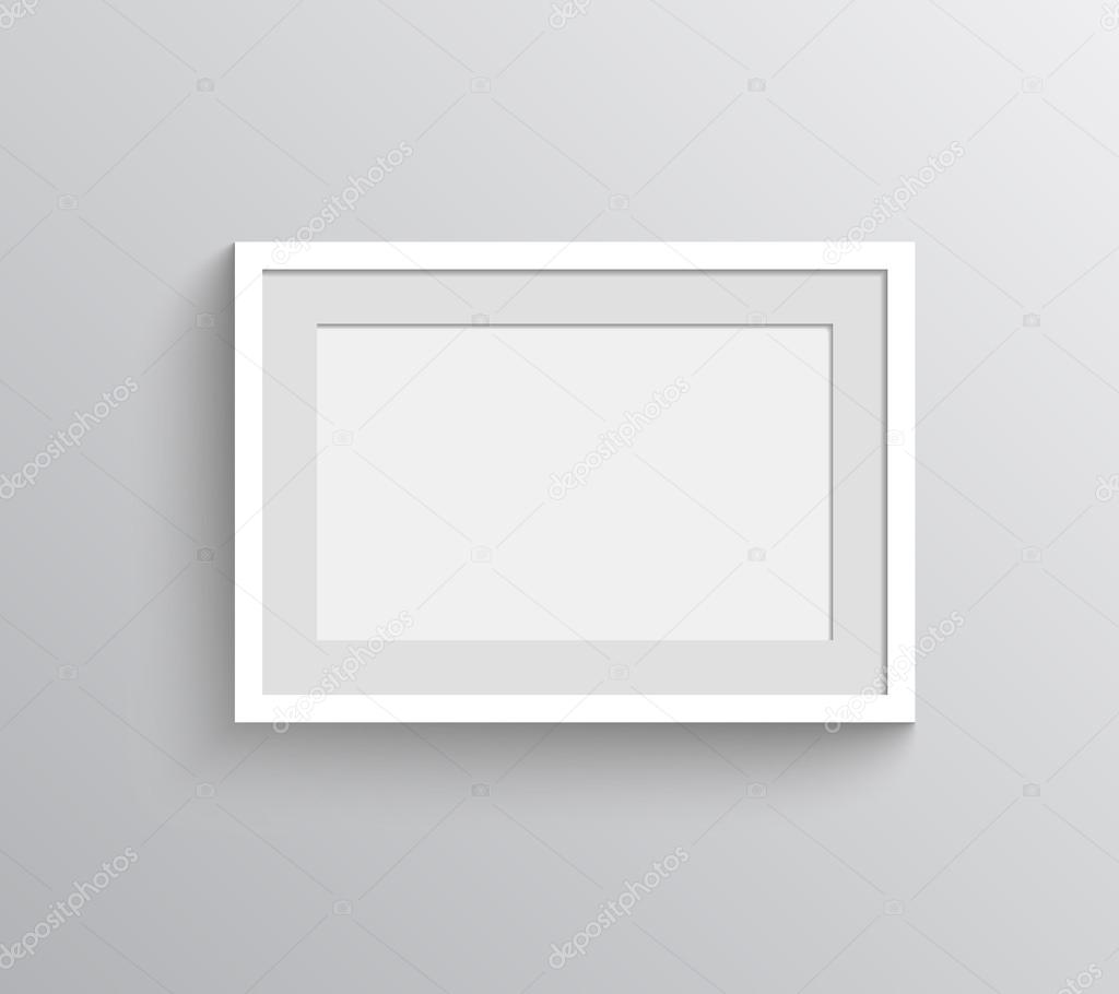 Vector de marco de foto para mostrar pintura — Vector de stock ...