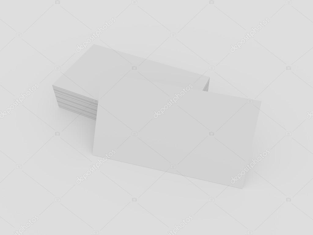Blank pile of business cards mockup. — Stock Photo © mileswork ...