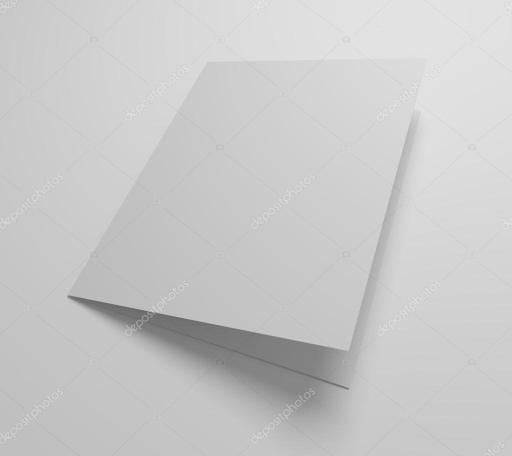 Blank 3d Illustration Greeting Card Mockup Stock Photo Mileswork